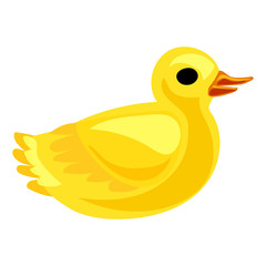 Yellow duck icon. Cartoon of yellow duck vector icon for web design isolated on white background