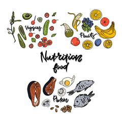 Nutrition food concept.