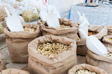 Taralli - traditional Italian snack food typical of Apulia