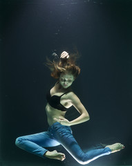 underwater fashion shoot