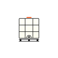 Ibc container icon. Intermediate Bulk Container. Clipart image isolated on white background