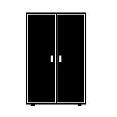Wardrobe vector icon. Clipart image isolated on white background
