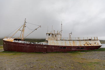Gardar ba ship wreck in patrekfjordur westfjords