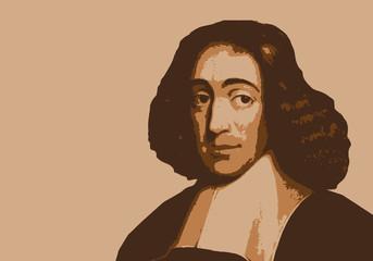 Portrait de Spinoza, célèbre philosophe hollandais du 17ème siècle
