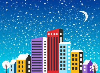 City landscape Christmas