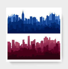 City landscape urban template