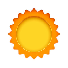 Sun sign on the white background. Vector illustration