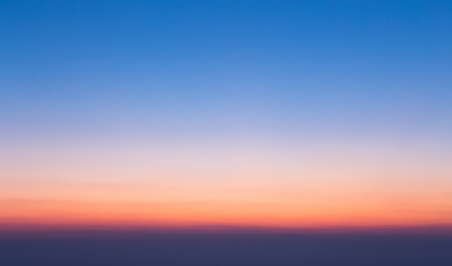 Colorful clear sky without cloud at twilight time before sunrise
