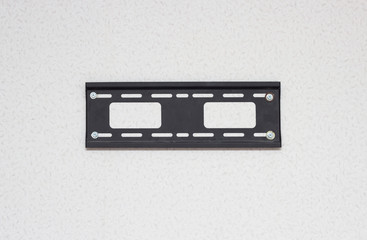 mount for TV LSD on the wall, close-up, white background, TV mount, television