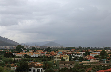 View on a cloudy day