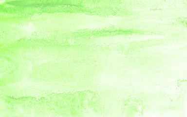 Pastel green watercolor abstract background, spot, splash of paint, stain, divorce. Sunny vintage pattern for design and decoration. With space for text