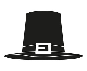 Black and white thanksgiving hat silhouette