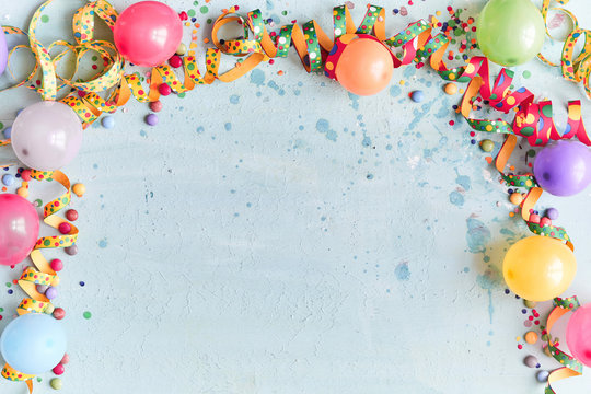 Carnival, festival or birthday balloon background