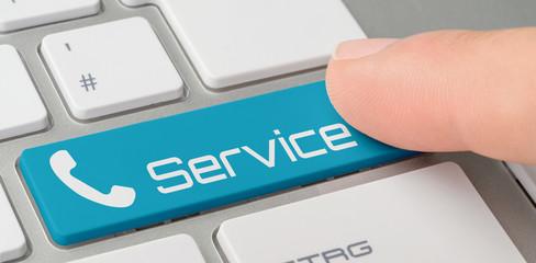 Tastatur mit blauer Taste - Service