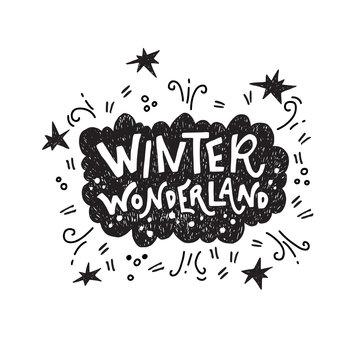 Winter Wonderland hand lettering quote