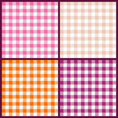 Collection 4 Seamless Check Pattern Retro