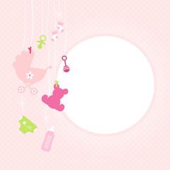 Hanging Baby Symbols Girl Rose Dots