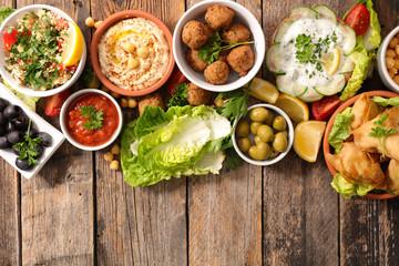 Fotobehang - assorted lebanese food