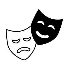 comedy drama masks theater symbol