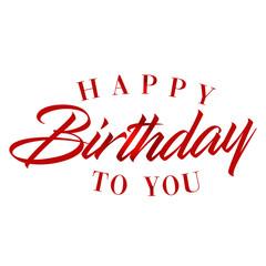 Happy birthday calligraphy background