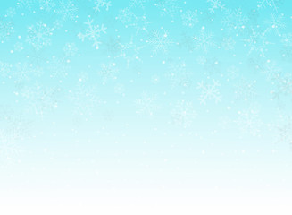 Abstract of blue sky christmas background with snowflakes pattern.