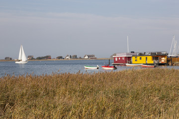 Blick von Strandhusen Heiligenhafen auf Graswarder Heilgenhafen