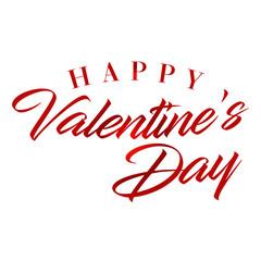 Happy valentines day calligraphy background