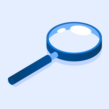 Magnify glass icon. Isometric of magnify glass vector icon for web design isolated