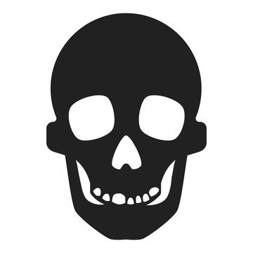 Skull icon. Simple illustration of skull vector icon for web design isolated on white background