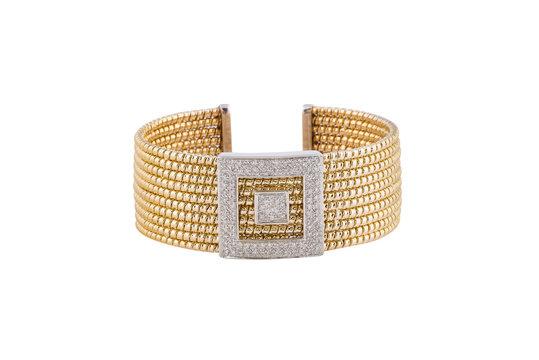 Ladies luxury watch isolated