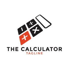 Calculator logo icon design template vector illustration
