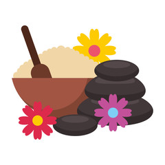 stones face mask care flowers spa healthy