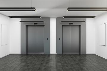 Modern interior with elevator