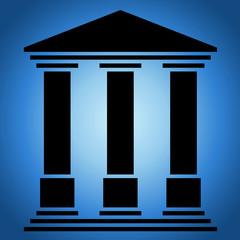 Temple 3 colonnes. Fond nuit