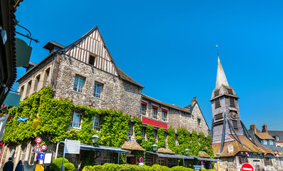 Traditional houses in Honfleur. Normandy, France