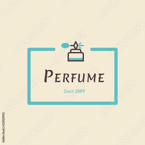 Perfume Logo Icon For Business Card Illustration Perfume Shop