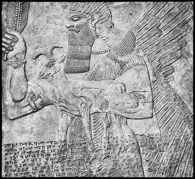 Assyrian art masterpieces,  sculpture - history of Mesopotamia