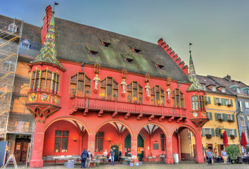 The Historical Merchants Hall on the Minster Square in Freiburg im Breisgau, Germany Wall mural