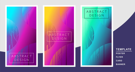 abstract colored geometric background in bright neon colors and cosmic images, planets and lights