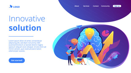 Innovative solution concept landing page.