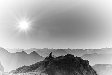 Einsam in den Allgäuer Alpen