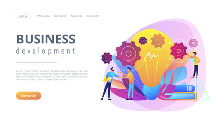 Business idea concept landing page.