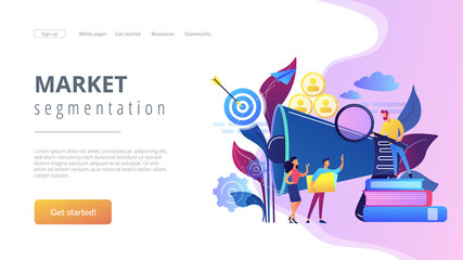 Target group concept landing page.