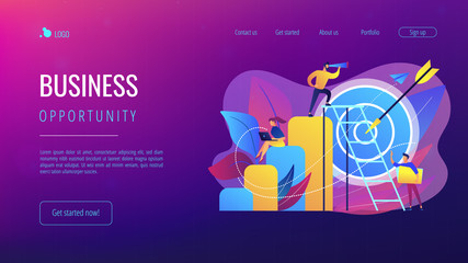 Business opportunity concept landing page.