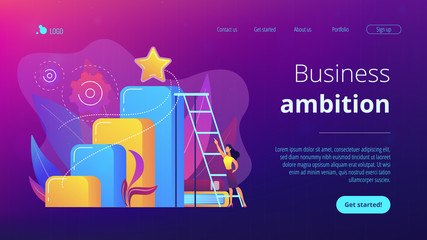 Business ambition concept landing page.