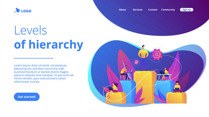 Business hierarchy concept landing page.