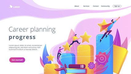 Career development concept landing page.