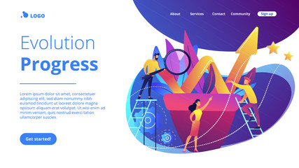 Business growth concept landing page.
