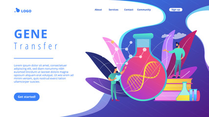 Gene therapy concept landing page.