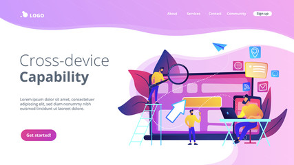 Cross-device tracking concept landing page.
